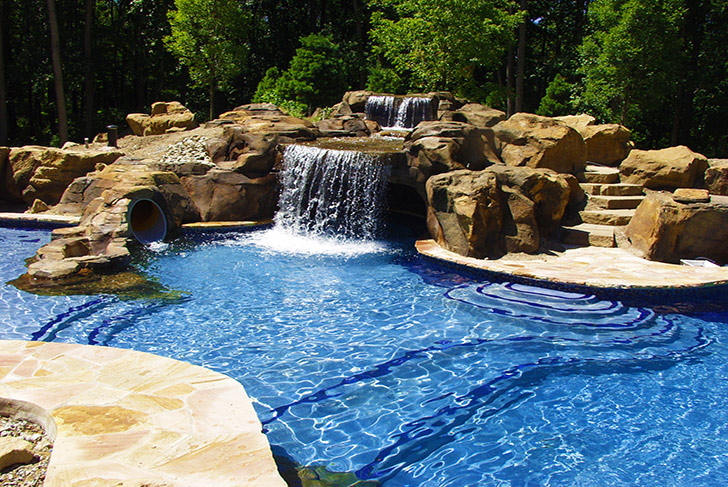 Faux Carved Cave Pittsburgh by World  Class Pools