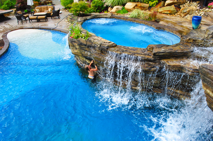 Pools and Waterfalls By Tom Blodgett and World Class Pools of Pittsburgh