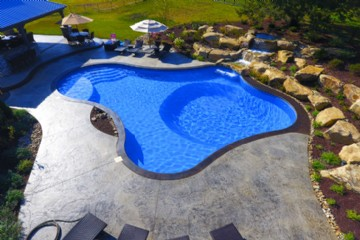 Liner Pools and Waterfalls By Tom Blodgett and World Class Pools of Pittsburgh